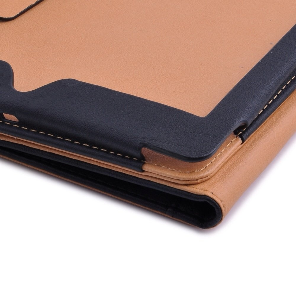 Mofred Black Tan Apple Ipad 2017 2017 2018 Version Leather Case