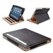 Black & Tan Apple iPad Air (2013-2014 Version) Leather Case - MOFRED®