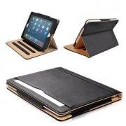 "Black & Tan Apple iPad Pro 9.7"" (2015-2016 Version) Leather Case - MOFRED®"