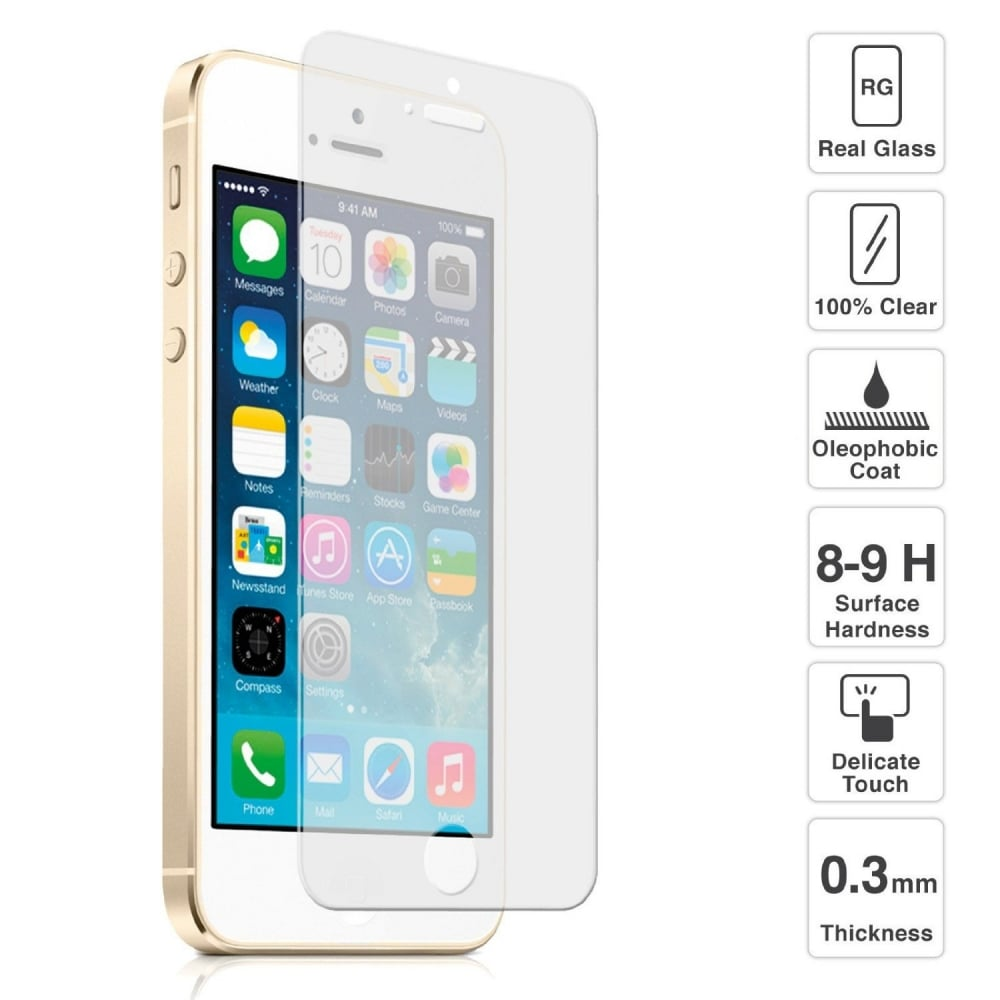 new arrival c281c 35a2d Mofred® 2x iPhone SE Tempered Glass Shatterproof Screen Protector