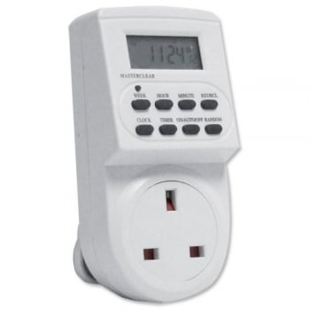 Mofred® 7 Day LCD Digital Electronic Plug-in Programmable 12 24 Hour Timer Switch Socket