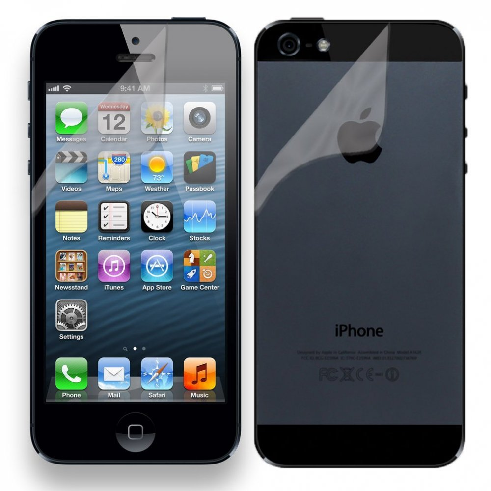 factory price 07bad cb635 Mofred® Apple iPhone 5/5s Screen Protector Front and Back