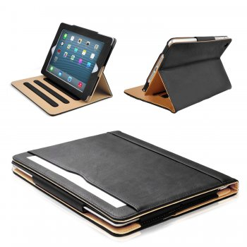 Mofred® Black and Tan iPad 2 / iPad 3 / iPad 4