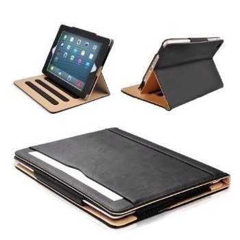 Mofred® Black & Tan Apple iPad Air (2013-2014 Version) Leather Case - MOFRED®