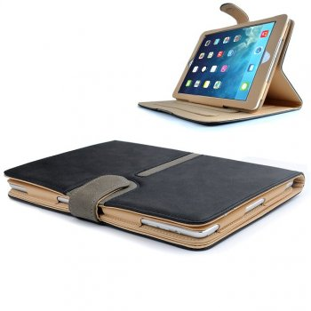 Buckle Executive Suede Leather Apple iPad Air (2013-2014 Version) Case