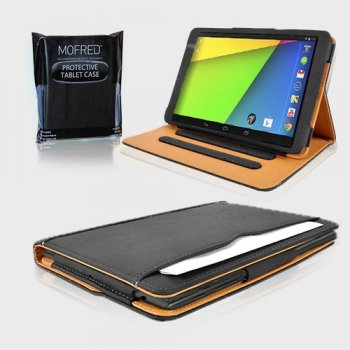 Mofred® Google Nexus 7 2 II Tablet (Launched July 2013) Black and Tan Case