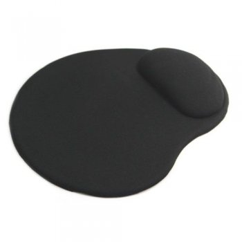 Mofred® BLACK ANTI-SLIP COMFORT MOUSE MAT PAD WITH GEL FOAM REST WRIST SUPPORT for PC / MAC / LAPTOP (RETAIL PACKED)