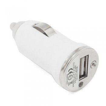 Mofred® White Bullet USB Car Charger 12V for iPhone 5 5C 5S, iPad and iPad Air ,iPad Mini, iPod Touch 5G, - Compatible with iOS 7.1.1 (Works with all USB Charging Cables)